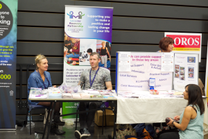 Stalls at the Health & Wellbeing Festival
